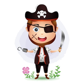 Illustration de l'homme pirates mignon