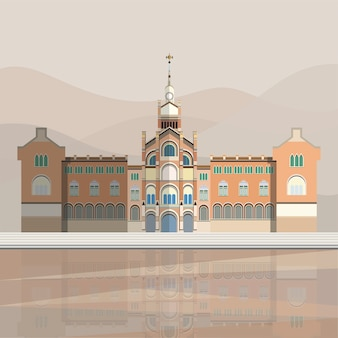 Illustration de l'hôpital de sant pau