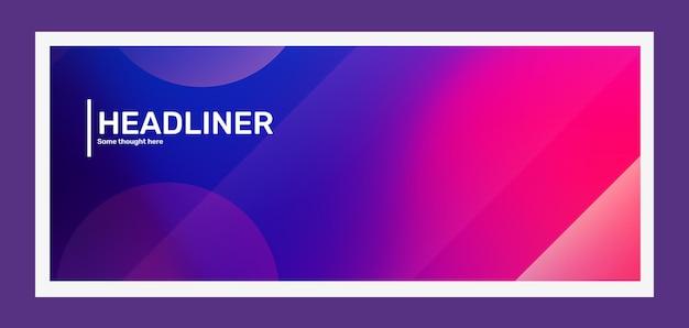 Illustration horizontale créative rose et violet vif avec résumé d'entreprise bokeh