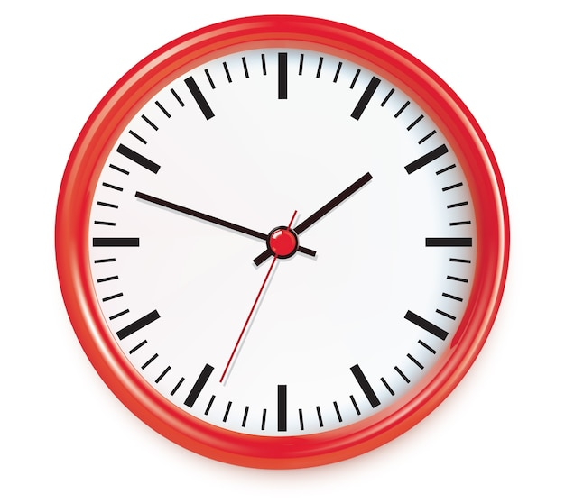 Illustration d'horloges murales rouges