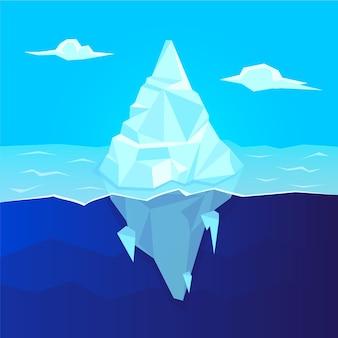 Illustration de l'iceberg dans l'océan