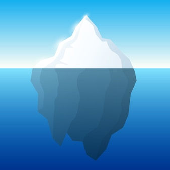 Illustration de l'iceberg sur l'eau