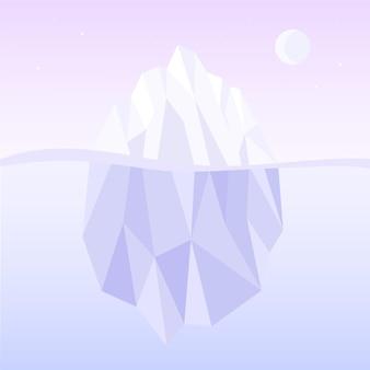 Illustration de l'iceberg