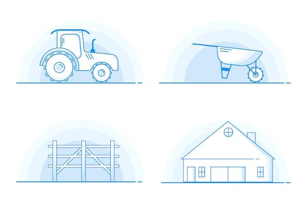 Illustration d'icône d'agriculteur