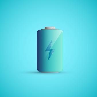 Illustration d'icône de batterie.