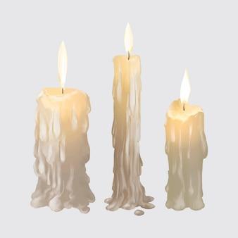 Illustration de l'icône de bougies pour halloween