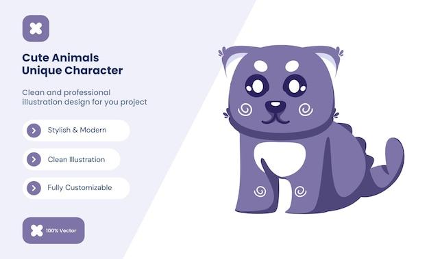 Illustration d'icône de chat mignon. concept d'icône d'amour animal
