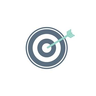 Illustration de l'icône de cible d'entreprise