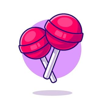 Illustration d'icône de dessin animé de bonbons sucette.