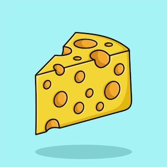 Illustration de l'icône de dessin animé de fromage
