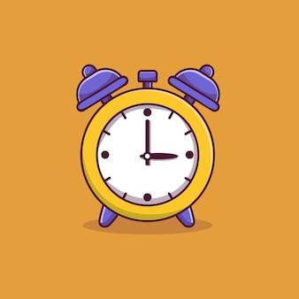 Illustration de l'icône de dessin animé réveil