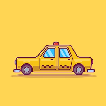 Illustration d'icône de dessin animé de taxi.