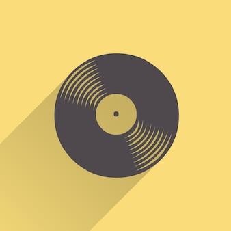 Illustration d'icône de disques vinyle, modèle de musique. couverture créative et luxueuse