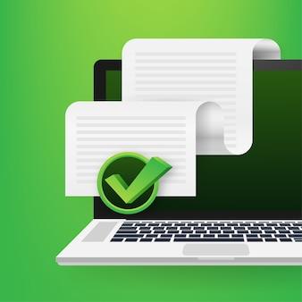 Illustration d'icône de documents