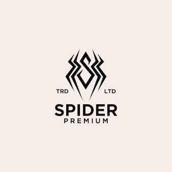 Illustration de l'icône du logo vintage araignée vecteur premium