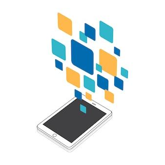 Illustration de l'icône du message