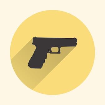 Illustration de l'icône du pistolet. image créative et rétro