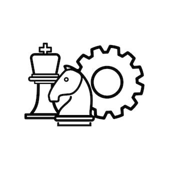 Illustration de l'icône d'engrenage