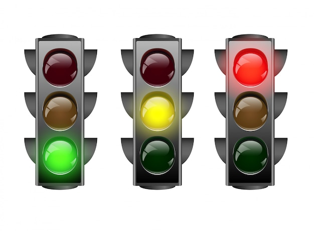 Illustration d'icône de feux de circulation