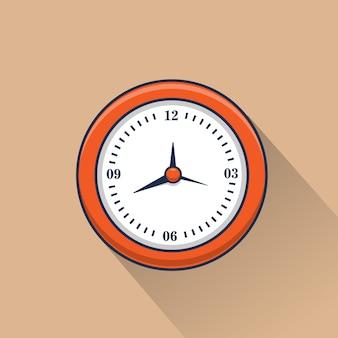 Illustration de l'icône de l'horloge murale