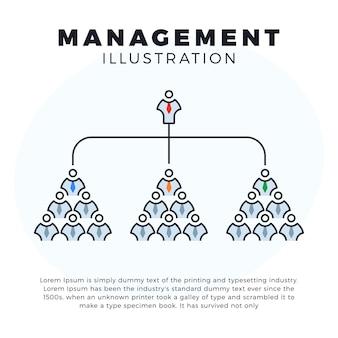 Illustration d'icône de ligne web