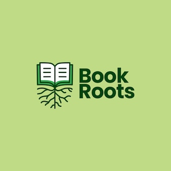 Illustration d'icône de livre racine logo