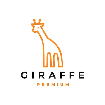 Illustration d'icône logo girafe