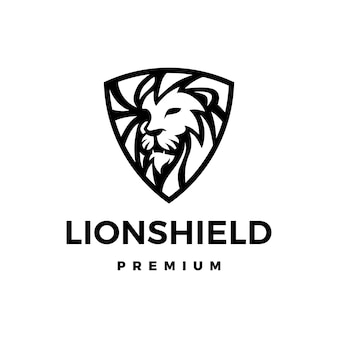 Illustration d'icône logo lion bouclier