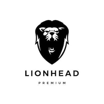 Illustration d'icône logo tête de lion