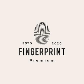 Illustration d & # 39; icône de logo vintage hipster impression de doigt