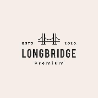 Illustration d'icône logo vintage pont
