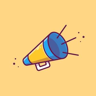 Illustration d'icône mégaphone mégaphone. concept d'icône cinéma cinéma isolé. style de dessin animé plat