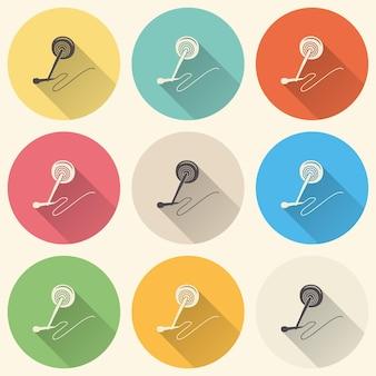 Illustration d'icône de microphone audio, modèle de musique. couverture créative et luxueuse