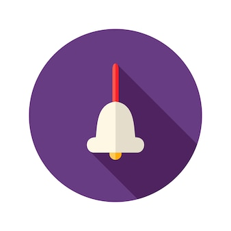 Illustration de l'icône plate de cloche de poignée de noël décorative