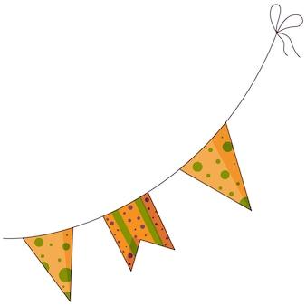Illustration de l'icône plate des éléments du jour de thanksgiving