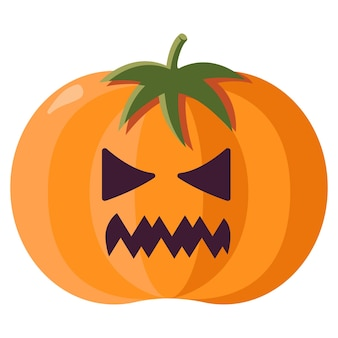 Illustration d'icône plate d'objets effrayants d'halloween