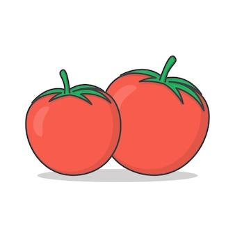 Illustration d'icône de tomate fraîche. icône plate de tomate
