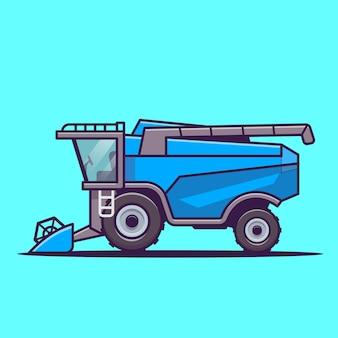 Illustration d'icône de vecteur de dessin animé de ferme de tracteur. concept d'icône de transport agricole vecteur isolé. style de bande dessinée plat