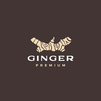 Illustration d'icône de vecteur de logo de gingembre