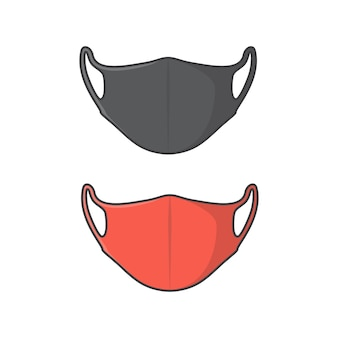 Illustration d'icône de vecteur de masque facial. icône plate de protection antivirus