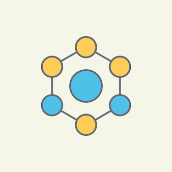Illustration de l'icône vecteur moléculaire
