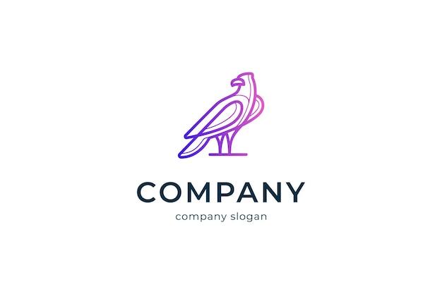 Illustration d'icône vectorielle simple logo aigle moderne