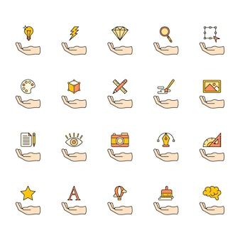 Illustration d'icônes de conception graphique