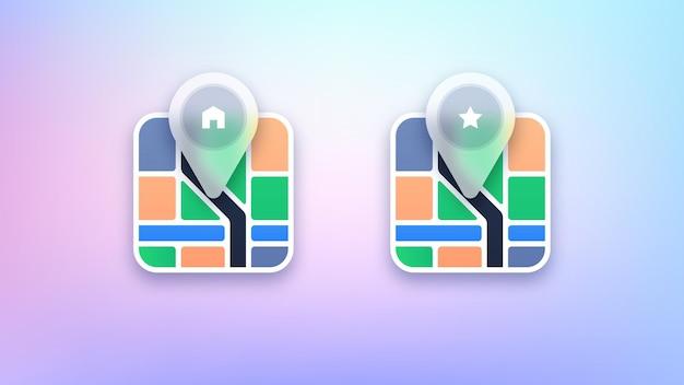 Illustration des icônes de navigation sur la carte