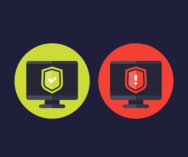 Illustration d'icônes de protection des données