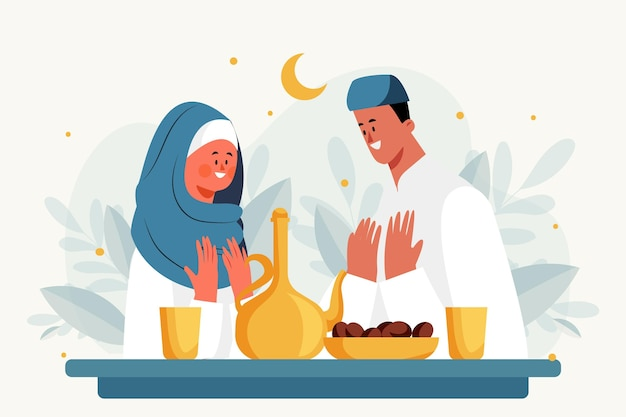 Illustration de l'iftar plat