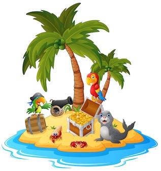 Illustration de l'île au trésor