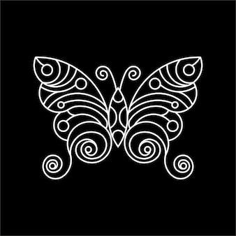 Illustration d'illustration art papillon ligne pour t-shirt