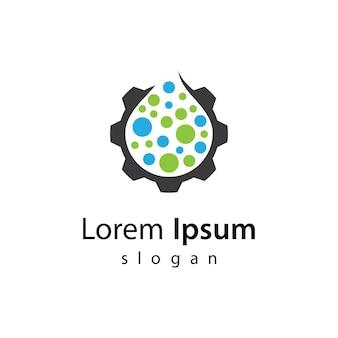 Illustration d'images de logo de moteur à eau