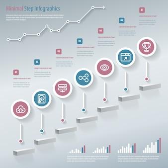 Illustration d'infographie étape